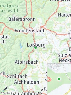 Here Map of Loßburg