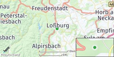 Google Map of Loßburg