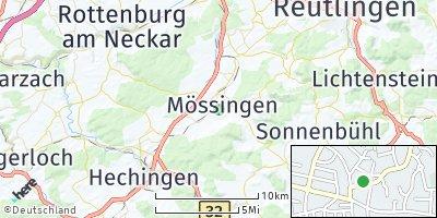 Google Map of Mössingen