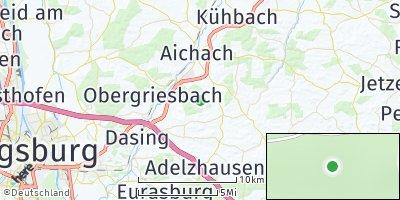 Google Map of Blumenthal bei Aichach