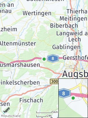 Here Map of Adelsried bei Augsburg