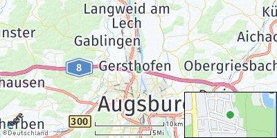 Google Map of Gersthofen