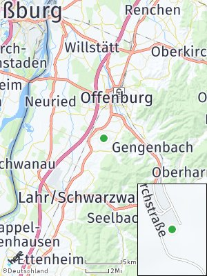 Here Map of Hohberg bei Offenburg