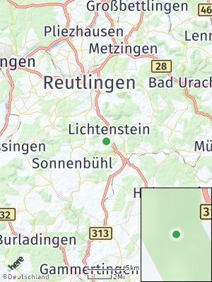 Here Map of Lichtenstein