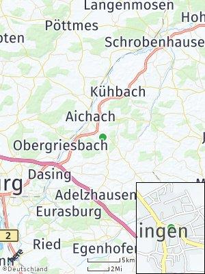 Here Map of Klingen bei Aichach