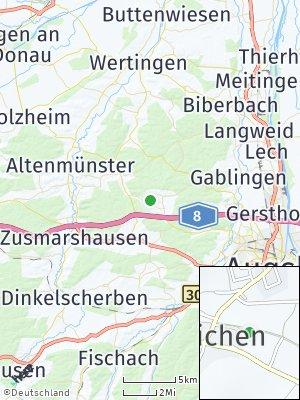 Here Map of Bonstetten bei Augsburg