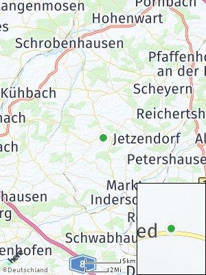 Here Map of Hilgertshausen-Tandern