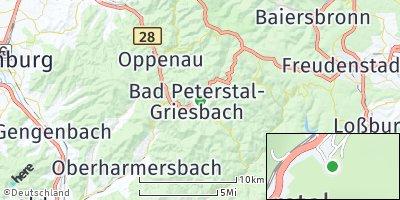 Google Map of Bad Peterstal-Griesbach