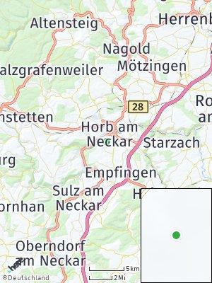 Here Map of Horb am Neckar