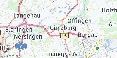 Google Map of Günzburg