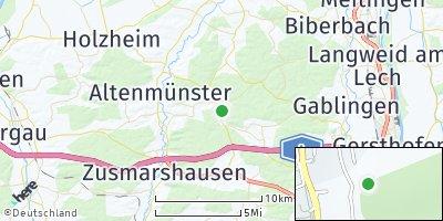 Google Map of Welden bei Augsburg
