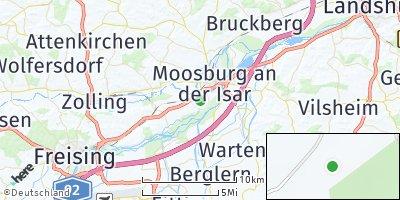 Google Map of Oberreit an der Isar