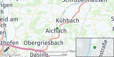 Google Map of Aichach an der Paar