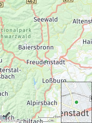 Here Map of Freudenstadt