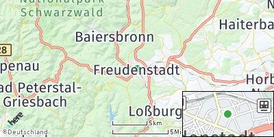 Google Map of Freudenstadt