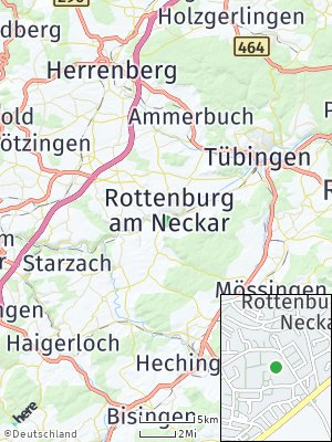 Here Map of Rottenburg am Neckar