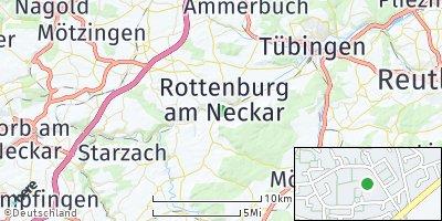 Google Map of Rottenburg am Neckar
