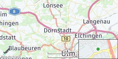 Google Map of Dornstadt