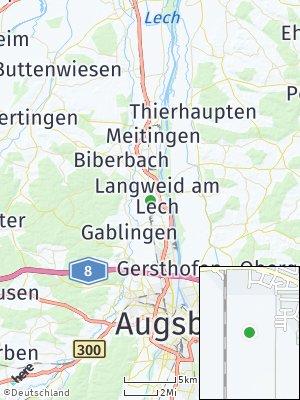Here Map of Langweid am Lech