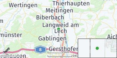 Google Map of Langweid am Lech