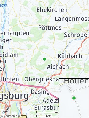 Here Map of Hollenbach bei Aichach