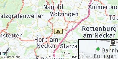 Google Map of Eutingen im Gäu