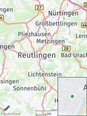 Here Map of Eningen unter Achalm