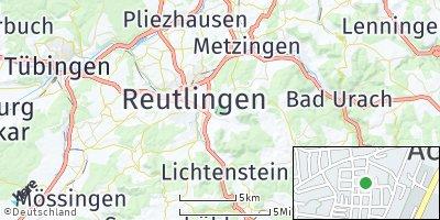 Google Map of Eningen unter Achalm