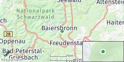 Google Map of Baiersbronn