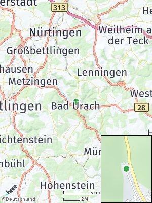 Here Map of Bad Urach