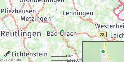 Google Map of Bad Urach