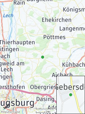 Here Map of Petersdorf bei Aichach