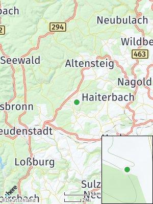 Here Map of Pfalzgrafenweiler