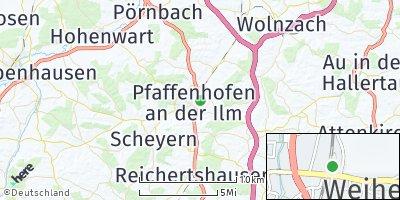 Google Map of Pfaffenhofen an der Ilm