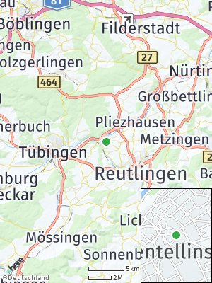 Here Map of Kirchentellinsfurt