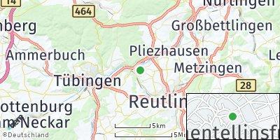 Google Map of Kirchentellinsfurt