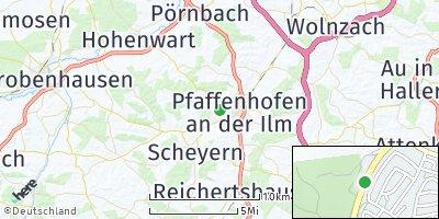 Google Map of Sulzbach an der Ilm