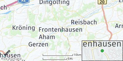 Google Map of Frontenhausen