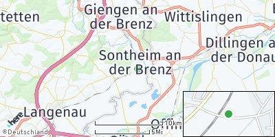 Google Map of Sontheim an der Brenz