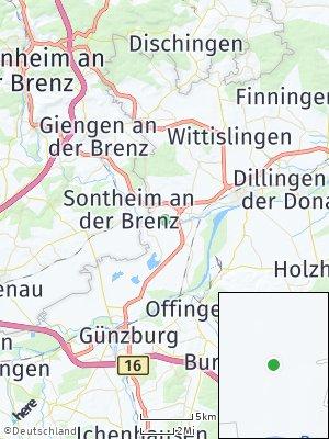 Here Map of Bächingen an der Brenz