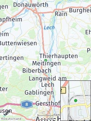 Here Map of Meitingen
