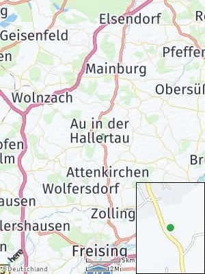 Here Map of Au in der Hallertau