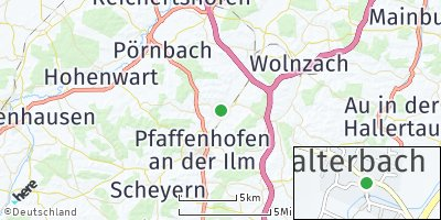 Google Map of Affalterbach