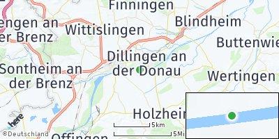 Google Map of Dillingen an der Donau