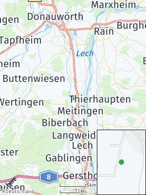 Here Map of Westendorf bei Donauwörth