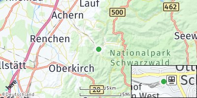 Google Map of Ottenhöfen im Schwarzwald