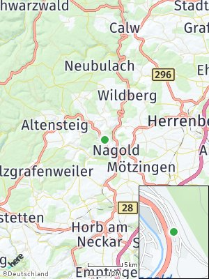 Here Map of Rohrdorf bei Nagold