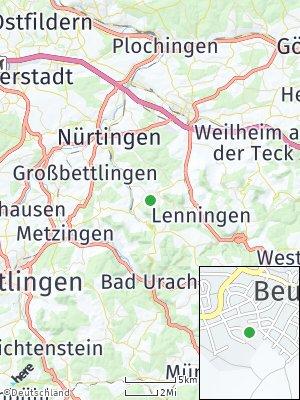 Here Map of Beuren bei Nürtingen