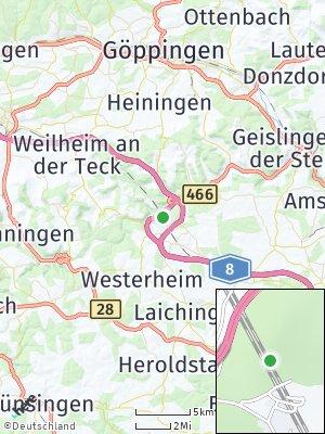Here Map of Mühlhausen im Täle