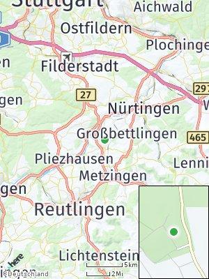 Here Map of Altdorf bei Nürtingen